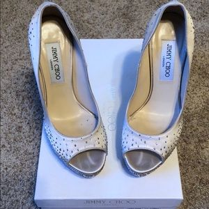 "Limited Edition Jimmy Choo ""Sugar"" Champagne Pumps"